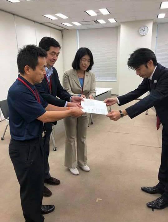 東京医大の追加合格者による2019年度入試合格者減少分を他大学医学部を含めた臨時定員増で補うことを求める、緊急要望書を文部科学省に提出